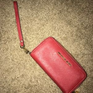 Red Micheal Kors Wallet